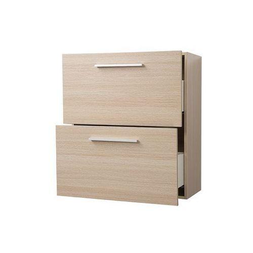 Meble łazienkowe - szafka wisząca łazienkowa beżowa - MURCIA (7081451142979)