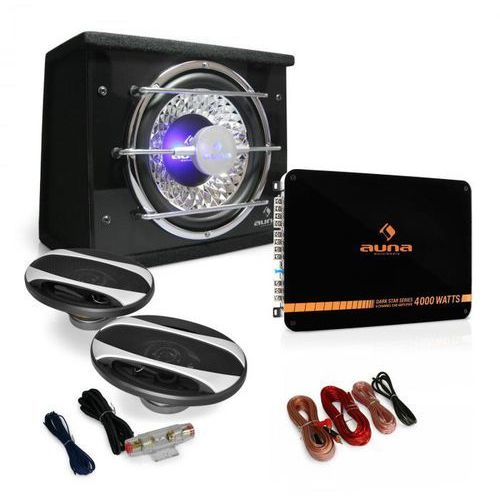 """Elektronik-star Auna zestaw auto hifi """"platin line 320"""" głośniki wzmacniacz 2800w (4260275629368)"""