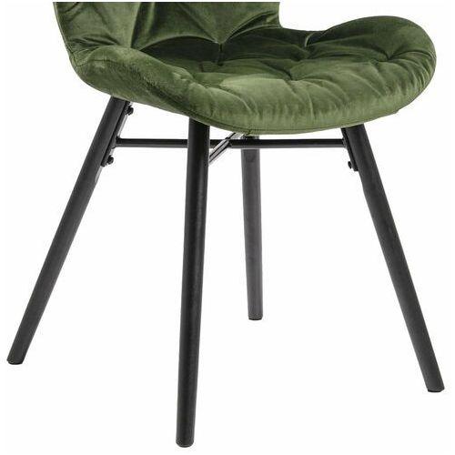 Krzesło Batilda -Forest green/ pikowana - Tkanina (5713941102928)