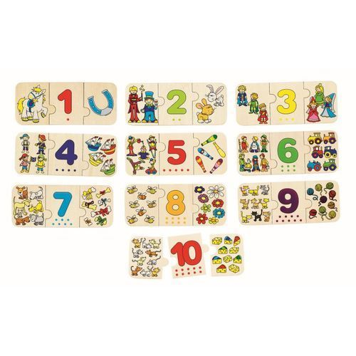 Trójelementowe puzzle z cyframi, 30 el., AM_4013594575942