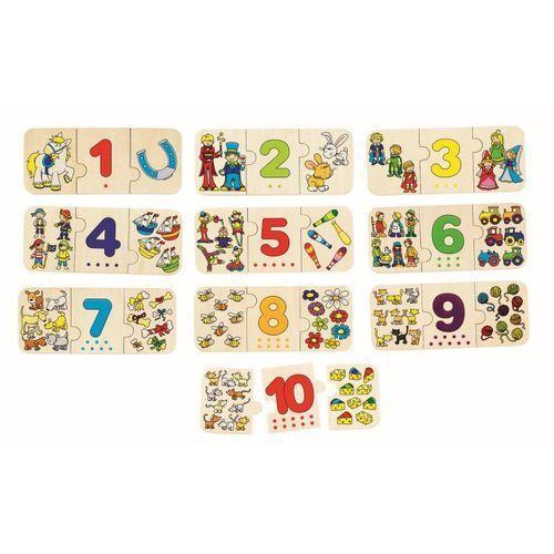 Trójelementowe puzzle z cyframi, 30 el. marki Goki