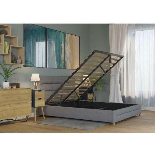 Łóżko 160x200 tapicerowane bergamo + pojemnik sawana szare marki Big meble