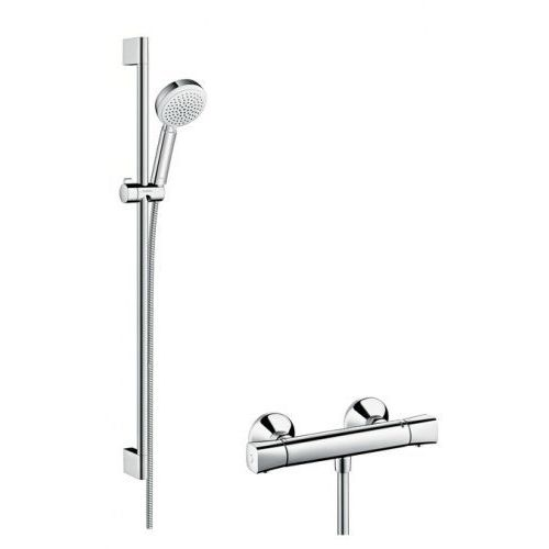 Hansgrohe Crometta crometta 100 vario combi set 090 m biały/chrom - 27031400