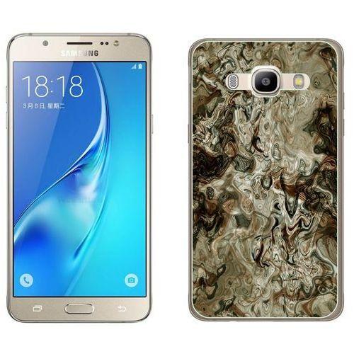 Samsung Galaxy J5 2016 - etui na telefon - Kolekcja marmur - marble brąz - H21