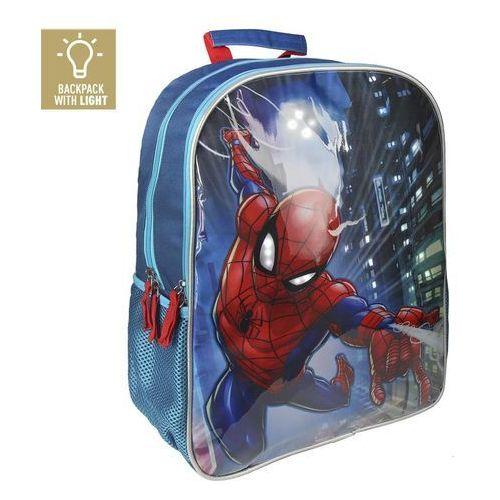 Plecak spiderman ze światłami led 41 cm marki Cerda