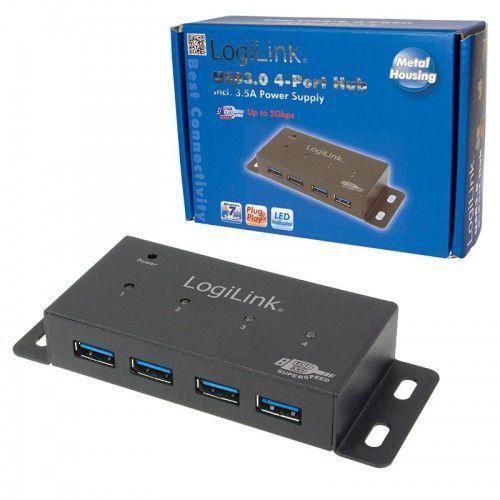 HUB USB LogiLink 4 porty USB 3.0, z zasilaczem (UA0149) Szybka dostawa! Darmowy odbiór w 21 miastach! (4052792000948)
