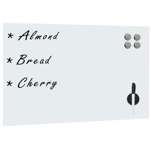 Vidaxl ścienna tablica magnetyczna, szklana, biała, 60 x 40 cm (8718475598169)