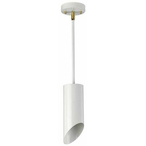 Elstead Lampa sufitowa quinto quinto1p wab plafon oprawa tuba metalowa biała stary mosiądz (1000000610031)