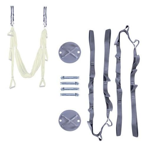 Zestaw do mocowania hamaka do jogi - wsporniki, śruby i pasy inSPORTline Hemmokstrap (8596084041470)