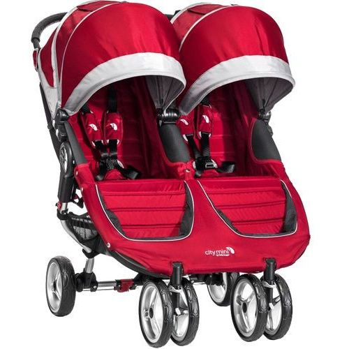 Baby jogger city mini double, crimson/gray