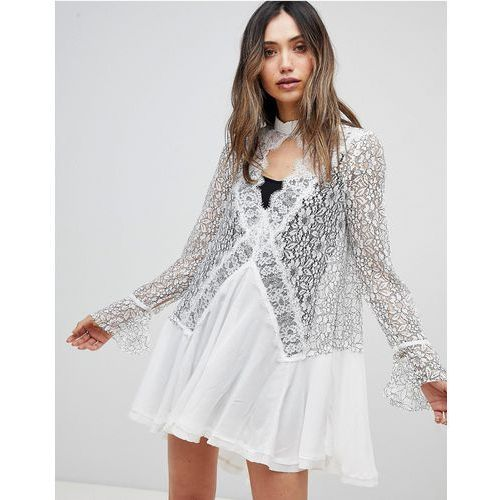 Free People Tell Tale Lace Dress - White, 1 rozmiar