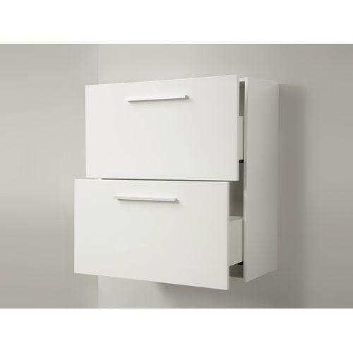 Meble łazienkowe - szafka wisząca łazienkowa biała - murcia, marki Beliani