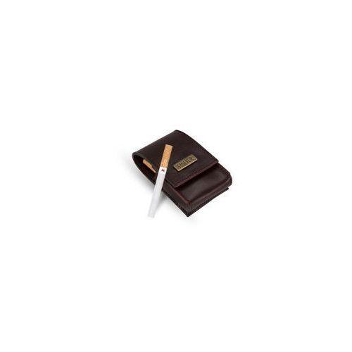 Skórzane męskie etui na papierosy sa14 maroon marki Solier