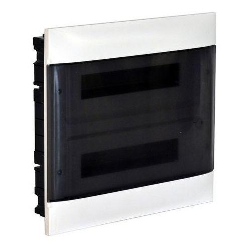 Rozdzielnica wnękowa 2 x 12 modułów drzwi dymne marki Legrand