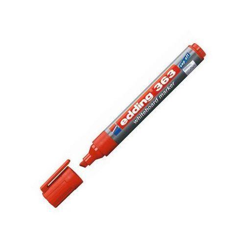 Edding marker do tablic suchościralnych e-363 1-5mm, ścięta końcówka, czerwony