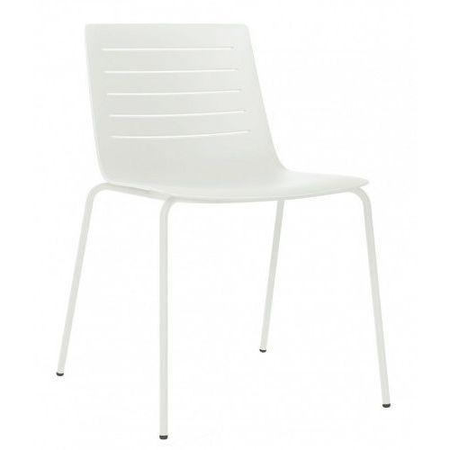 Krzesło skin 4 białe podstawa biała marki Resol