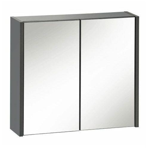 Producent: elior Wisząca szafka łazienkowa z lustrem - madryt 6x antracyt