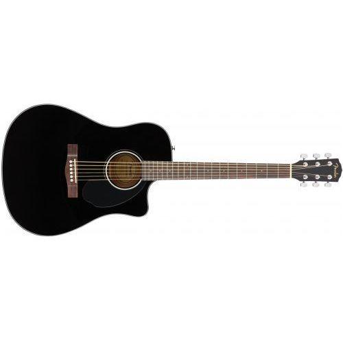 Fender cd-60sce dreadnought black wn gitara elektroakustyczna - OKAZJE