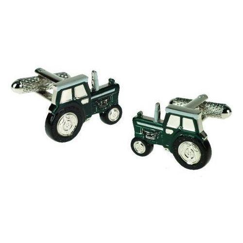 Spinki do mankietów Traktor zielony, ck647