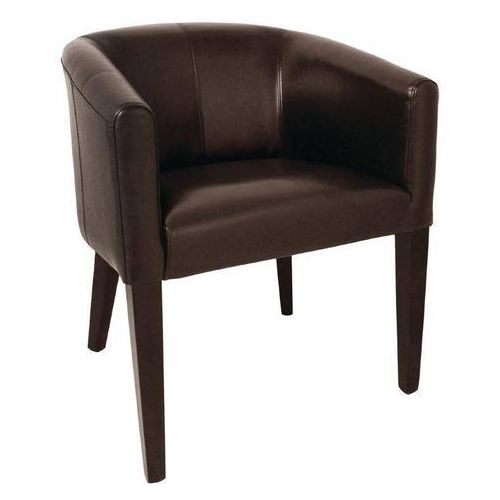 Fotel brązowy | 63x65x(H)82cm, kolor brązowy