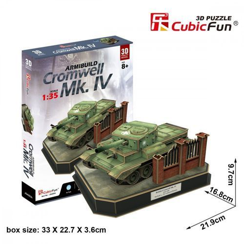 Cubicfun Puzzle 3d armibuild cromwell mk iv 157 elementów