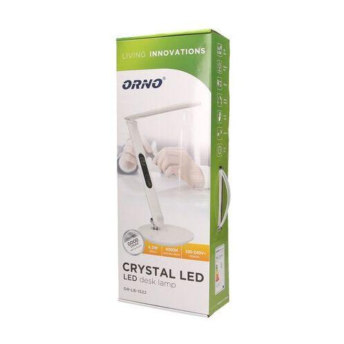 Orno polska lampka biurkowa orno crystal lb-1522 led z wyświetlaczem darmowy transport