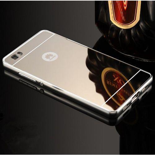 Obudowa Bumper Metal Mirror Case Huawei P8 Lite - Srebrna - Srebrny