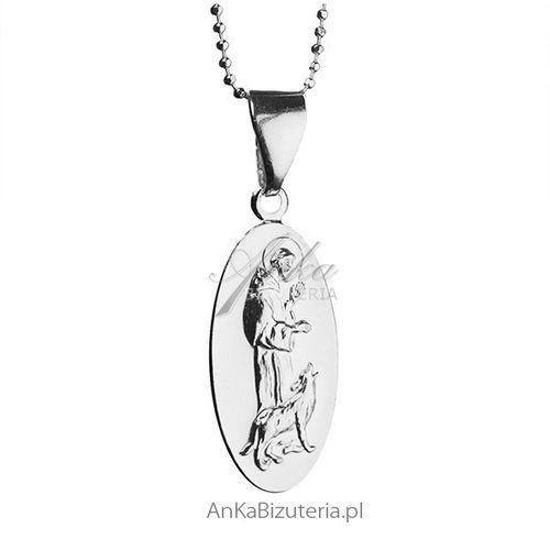 Medalik srebrny św Franciszek z Asyżu