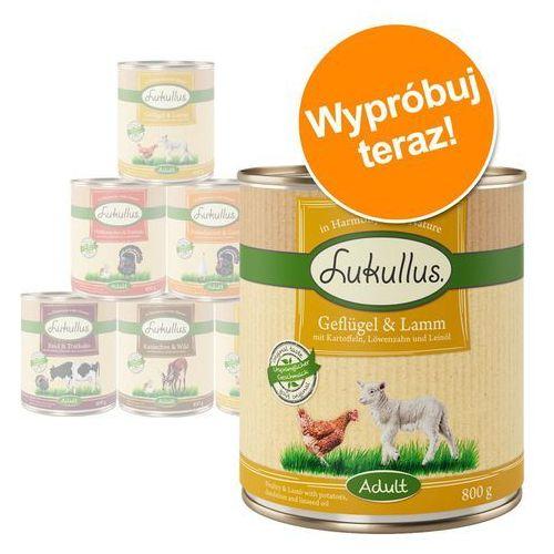 Mieszany pakiet próbny Lukullus - 6 x 800 g: drób, jagnięcina, królik, dziczyzna, wołowina (4260358510651)