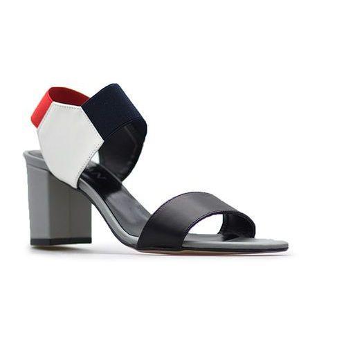Sandały 53225 czerwony/czarny/biały lico marki Sagan