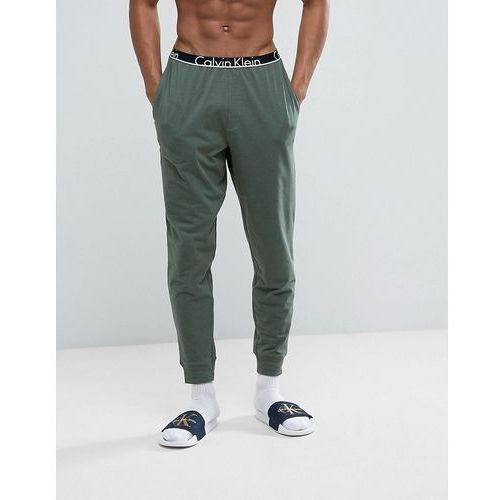Calvin klein  id joggers with cuffed ankle in slim fit - green