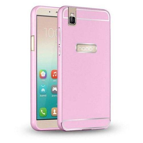 Bumper metal case różowy | etui dla huawei honor 7i / shot x - różowy marki Mat bumper