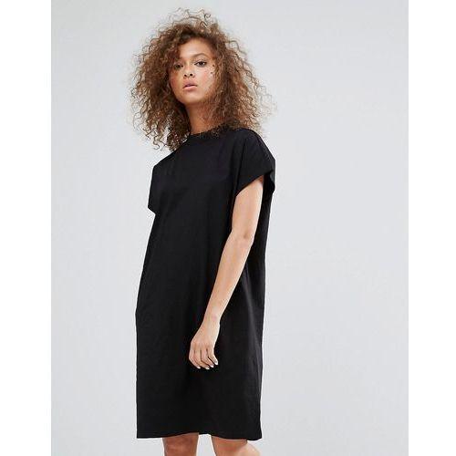 high neck dress - black, Weekday, 34-36
