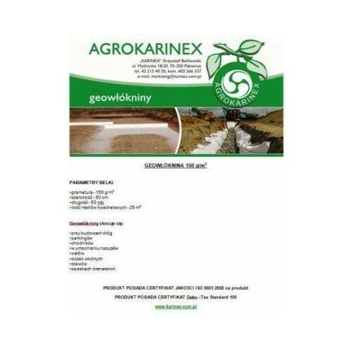 Geowłóknina 150 g/m2, biała 0,5 x 50 mb. rolka. marki Agrokarinex