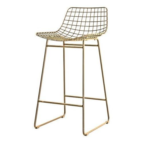 Hkliving mosiężny stołek barowy mzm4619 (8718921014830)