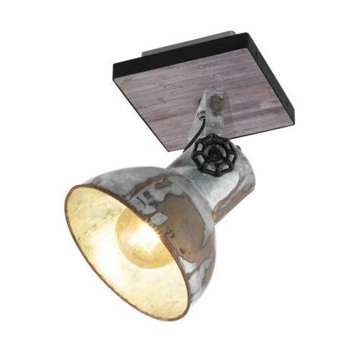 Kinkiet Eglo Barnstaple 49648 lampa ścienna spot 1x40W E27 czarny / brązowa patyna