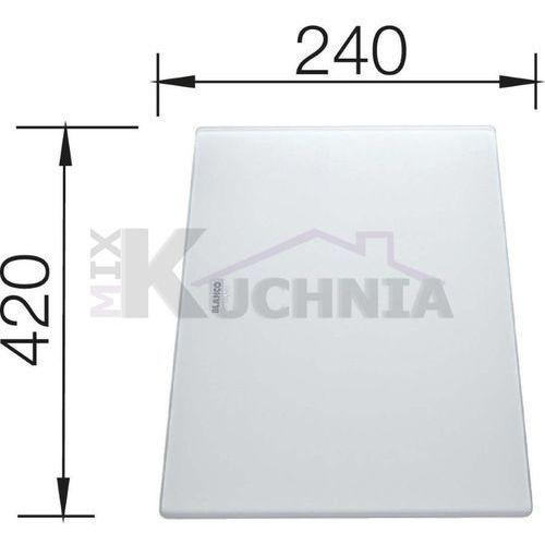 Deska kuchenna do krojenia BLANCO 420x240mm Szkło hartowane satynowe (225333), 225333
