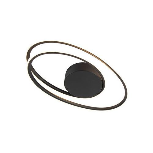 Designerska lampa sufitowa czarna wraz z 3-stopniowym ściemnianiem LED - Rowan