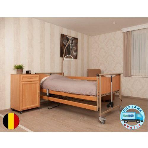 Łóżko rehabilitacyjne luna basic 2 z elektryczną regulacją wysokości i pozycją atb marki Vermeiren