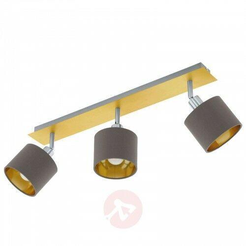 Lampa sufitowa Valbiano cappuccino/złoty 3-pkt., 23916541275