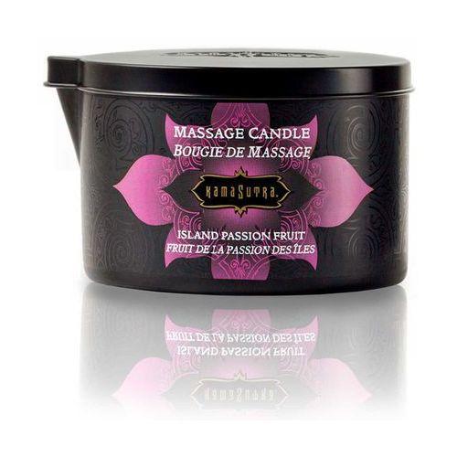 Świeca zapachowa do masażu bez parfiny - massage candle marakuja - duża 170gram marki Kamasutra