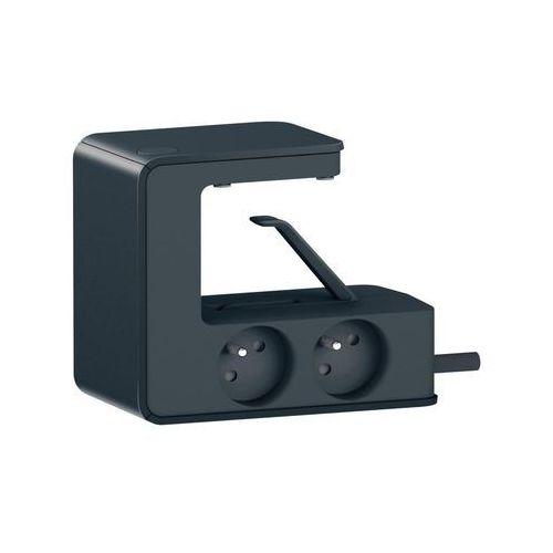 Legrand Przedłużacz blatowy 4x2p+z 16a 230v + 2 x usb czarny