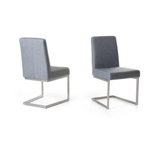 Krzesło ze stali szlachetnej - szare - tapicerowane - do jadalni - do kuchni - ARCTIC - sprawdź w wybranym sklepie