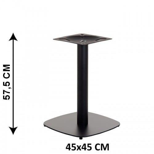 Podstawa stolika SH-3050-2/L/B, 45x45 cm, wysokość 57,5 cm (stelaż stolika), kolor czarny