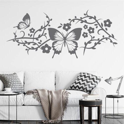 Szablon malarski kwiaty motyl 0902 marki Wally - piękno dekoracji