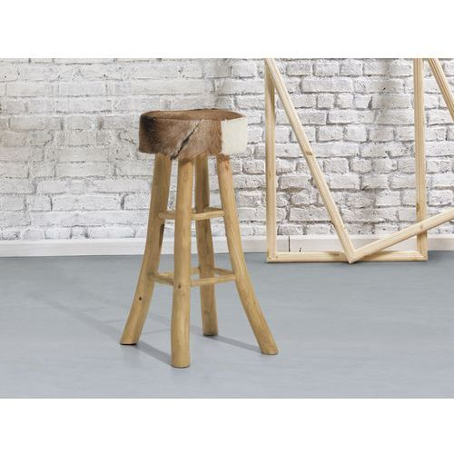 Hoker brązowy - stołek - hoker barowy - walton marki Beliani