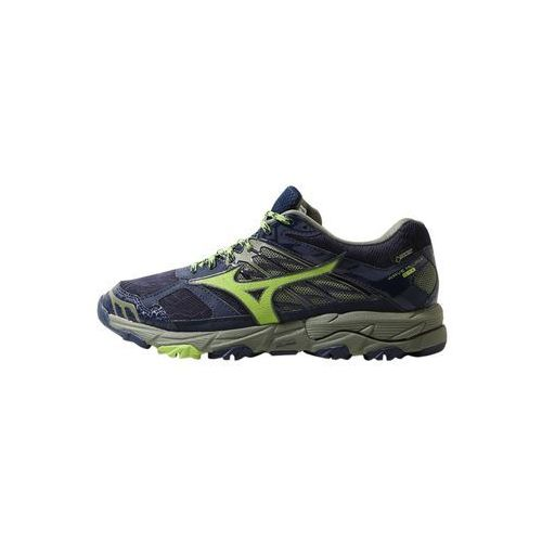 Mizuno WAVE MUJIN 4 GTX Obuwie do biegania Szlak dress blues/greenery/olivine, J1GJ1757