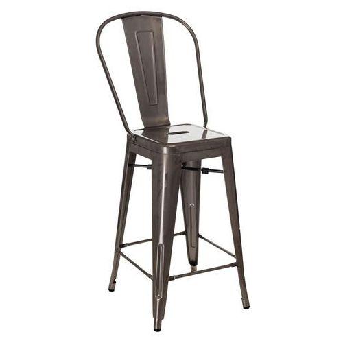 Stołek barowy paris back metalowy inspirowany tolix marki D2.design