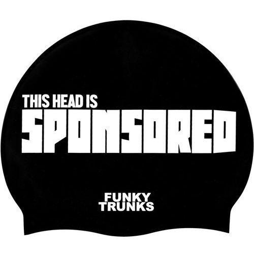 Funky Trunks Silicone Swimming Cap Czepek pływacki Mężczyźni biały/czarny 2018 Czepki