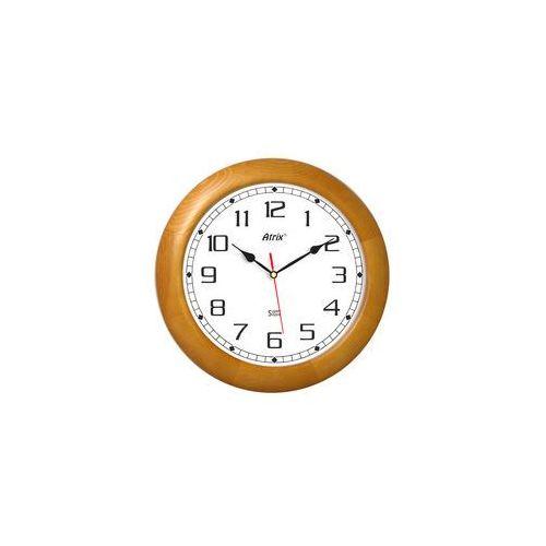 Duży drewniany zegar ścienny super cichy /34cm marki Atrix